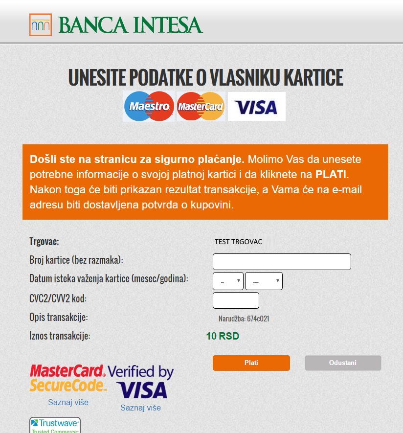 Virtuemart Banca Intesa Nestpay Payment Method Holest Engineering